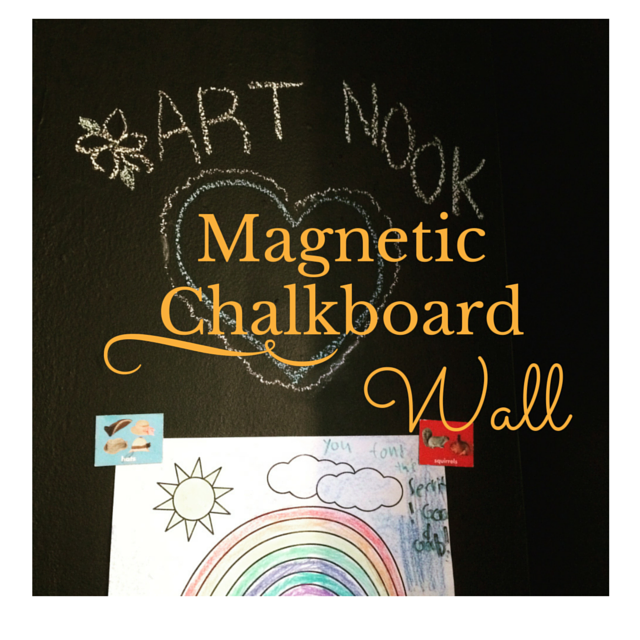 how to make magnetic chalkboard wall